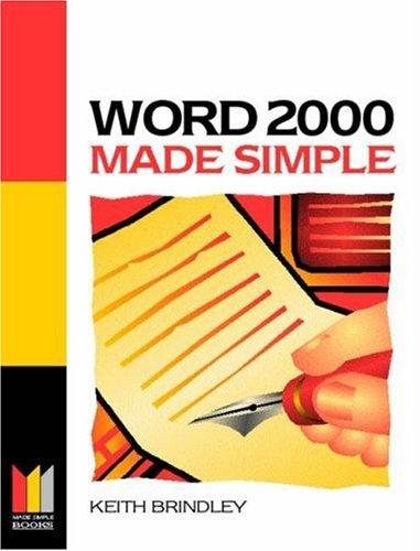 Word 2000 Made Simple by Keith Brindley