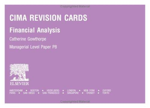 CIMA Revision Cards by Catherine Gowthorpe