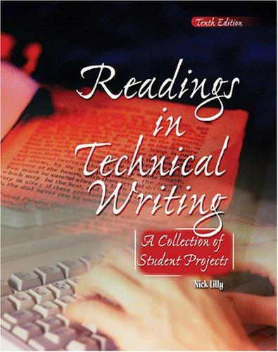 Readings In Technical Writing by Nick Lilly