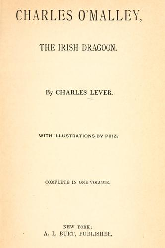 Charles O'Malley by Charles James Lever