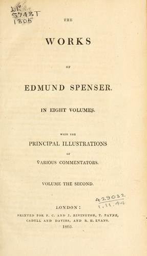 Works by Edmund Spenser