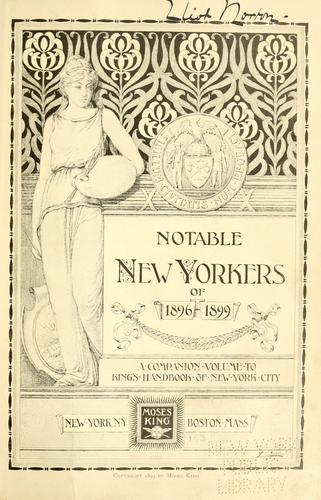 Notable New Yorkers of 1896-1899