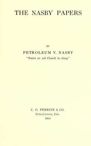 The Nasby papers