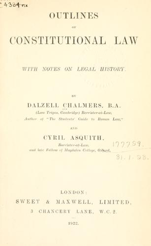 Outlines of constitutional law …