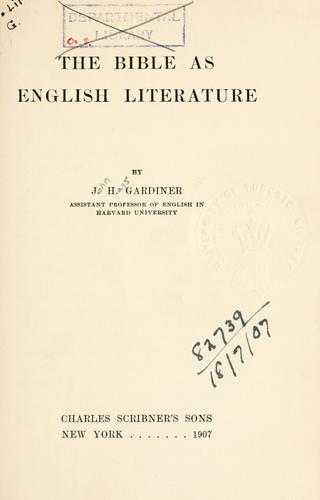 The Bible as English Literature.