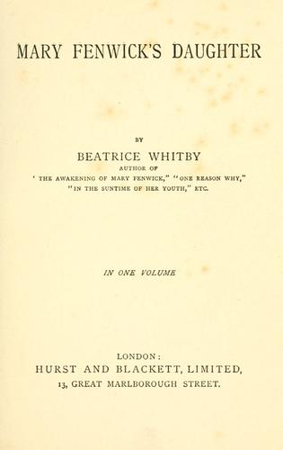 Mary Fenwick's daughter by Beatrice Whitby