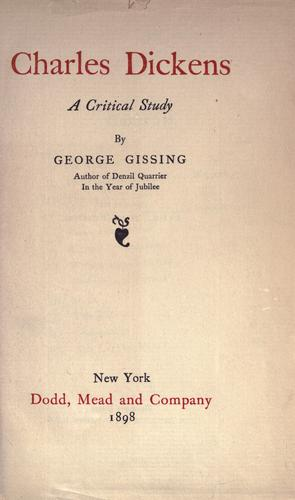 Charles Dickens by George Gissing