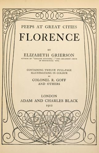 Florence by Elizabeth Wilson Grierson