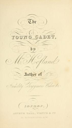 The young cadet; or, Travels in Hindostan by Barbara Wreaks Hoole Hofland