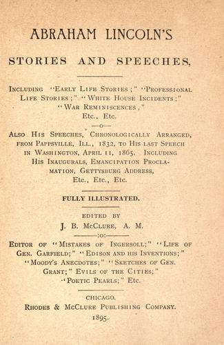 Abraham Lincoln's stories and speeches