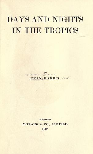 Days and nights in the tropics by Harris, William Richard