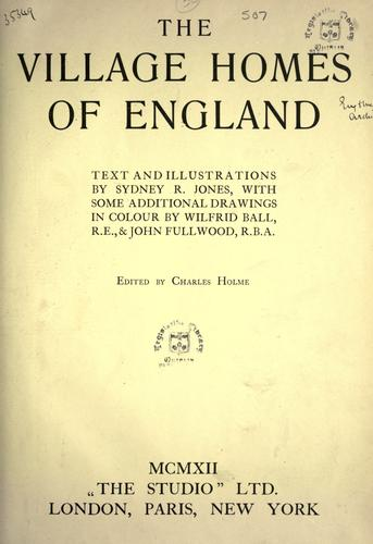 The village homes of England by Jones, Sydney R.