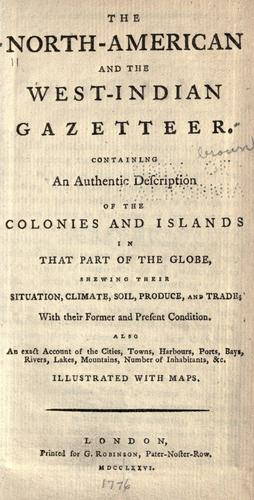 The North-American and the West-Indian gazetteer by