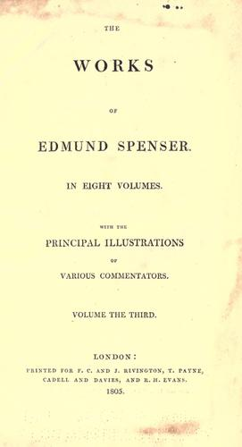 The works of Edmund Spenser by Edmund Spenser