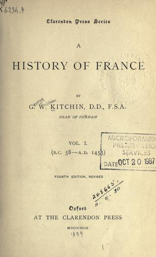 A history of France.