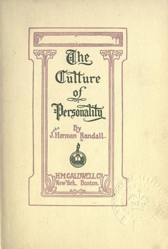 The culture of personality