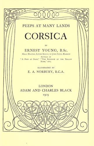 Corsica by Ernest Young