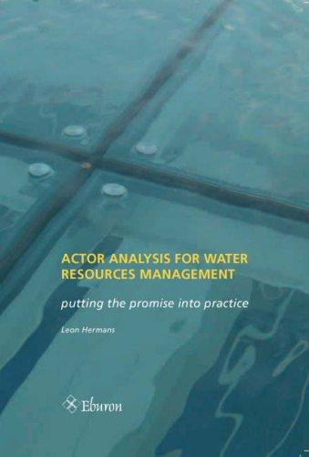 Actor Analysis for Water Resources Management