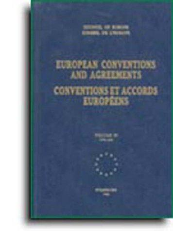 European conventions and agreements (bilingual edition) - Volume I; 1949-1961 (1992) by Council Of Europe